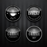 Coffee and bakery Badge and Label set Royalty Free Stock Photo