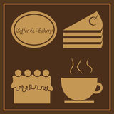 Coffee & Bakery Logo Royalty Free Stock Photos