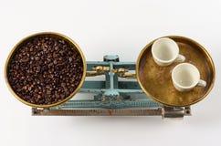 Coffee in balance. Royalty Free Stock Photos