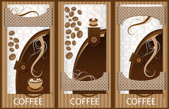 Coffee banner Stock Photo