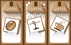 Coffee banner Stock Images
