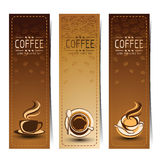 Coffee banner Stock Photography