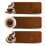 Coffee banner Royalty Free Stock Image