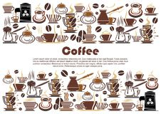 Free Coffee Banner With Hot Drink And Beverage Border Stock Photos - 116681693