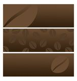 Coffee banners. Set of coffee headers or banners for web and decoration with coffee Royalty Free Stock Photography