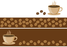 Coffee banners. Illustration of coffee banners for web Stock Photography