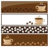 Coffee banners. Illustration of coffee banners (set of 4 Stock Image