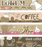Coffee Banners. Four type of Coffee banners Royalty Free Stock Image