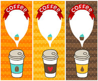 Coffee banners with bubble speech. Vector illustration Stock Photography