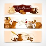 Coffee banners horizontal Stock Photography