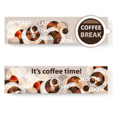Coffee banners. It's coffee time and coffee break Stock Images