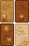 Coffee banners. Vector vintage hand drawn coffee banners Stock Photo