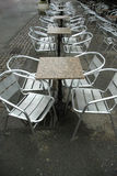 Coffee bar. Chairs and tables Royalty Free Stock Photo