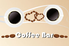 Coffee bar Stock Images