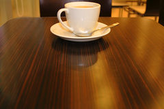 Coffee bar. Interesting perspective on a coffee bar table Stock Images