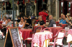Coffee bar. View of a coffee bar in Campo dei Fiori square in the historical center of Rome, Italy Royalty Free Stock Image