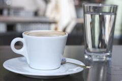 Coffee in a bar Stock Image