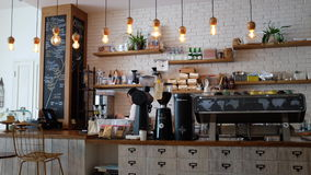 Coffee bar interior Royalty Free Stock Photography