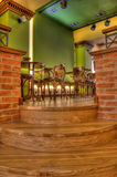 Coffee Bar And Pub Interior. Interior of Coffee Bar And Irish Pub in Europe Stock Photography