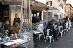 Coffee bar in Rome Royalty Free Stock Photo