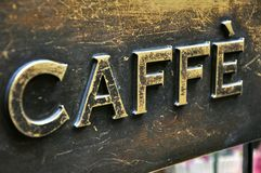 Coffee bar sign Royalty Free Stock Photo
