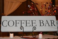 Coffee Bar Sign. Image of a coffee bar sign Stock Images