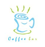 Coffee bar sign / logo Stock Photography