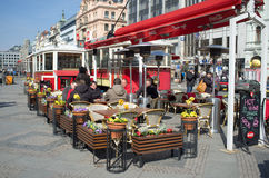 Coffee bar in Prague Royalty Free Stock Photography