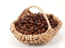 Coffee in a Basket Stock Photo