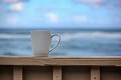 Coffee at the Beach royalty free stock image