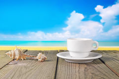 Coffee beach photo royalty free stock photography