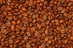 Coffee bean. Close up roasted coffee bean background Royalty Free Stock Photo
