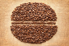 Coffee Bean. On fabric texture background Stock Images