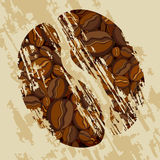 Coffee bean. This illustration can be used for your design Stock Photography