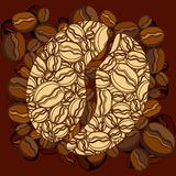 Coffee bean. This illustration can be used for your design Royalty Free Stock Images