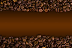 Coffee bean. On brown background Royalty Free Stock Photo