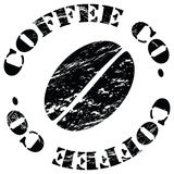 Coffee bean. Grungy illustration of a coffee bean surrounded by the words Coffee Company stock illustration