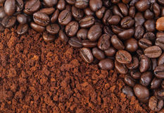 Free Coffee Bean And Ground Royalty Free Stock Photos - 11403778