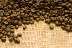 Coffee bean background. Background coffee fund for use in graphic design and make your text Royalty Free Stock Image