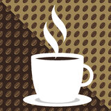 Coffee Bean Background. Seamless tileable sweet Coffee background Royalty Free Stock Images