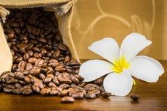 Coffee bean in bag Royalty Free Stock Photos