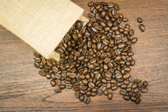 Coffee bean in bag Stock Photography