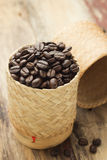 Coffee bean in basket Stock Photography