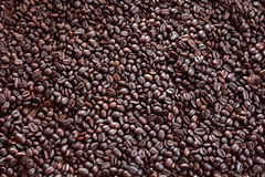 Coffee bean. S background with roasted natural seeds Royalty Free Stock Photo