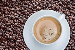 Coffee bean. S background with roasted natural seeds Royalty Free Stock Photos
