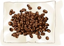Coffee bean on book Royalty Free Stock Photo