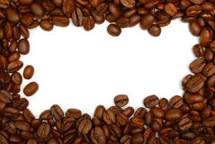 Coffee bean border Royalty Free Stock Photo