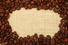 Coffee bean border Stock Photography