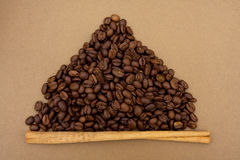 Coffee Bean Border Royalty Free Stock Photos