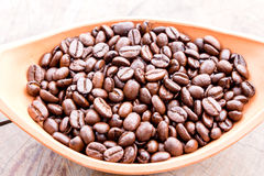 Coffee bean in bowl Stock Photo